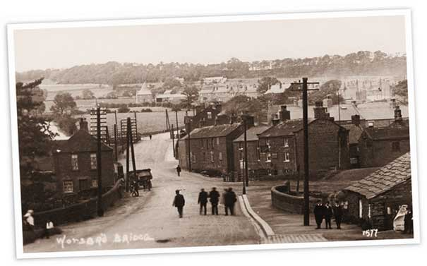 Looking up towards Worsbrough Bridge from what is now the Button Mill public house.