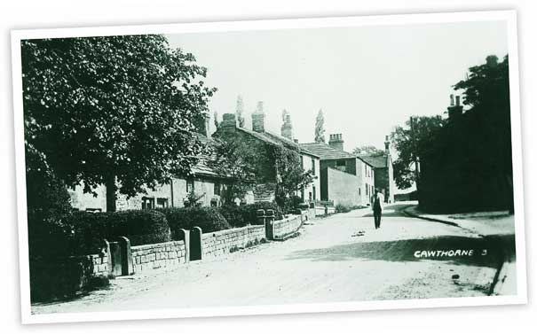 This view looking up Church Street, Cawthorne shows the Spencer Arms in the background.