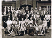Form 3a of the Wombwell Girls' Secondary Modern school, circa 1950 - Courtesy of Mrs Margaret Storey (née Sanderson)